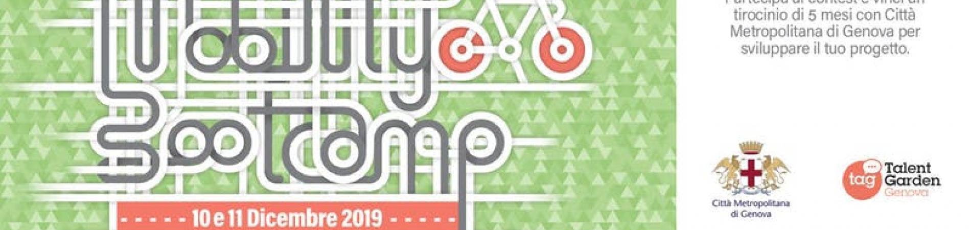 MOBILITY BOOTCAMP 2019: primo concorso di idee dedicato agli studenti universitari per creare una nuova concezione di mobilità ciclabile per Genova